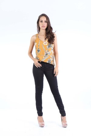 BLUSA CASUAL - MUSTARDS FLOWERS