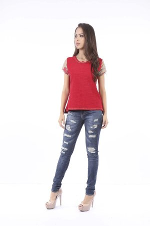 T-SHIRT CASUAL - WINTER RED