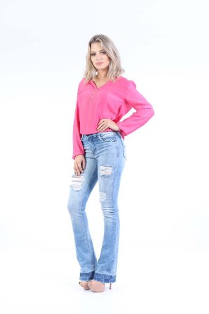CAMISA CASUAL - ROSA FORTE