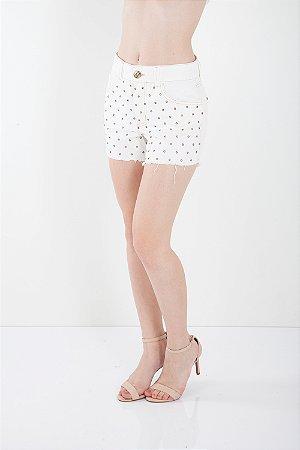 SHORTS HOT PANTS COM PATCH - OFF-WHITE