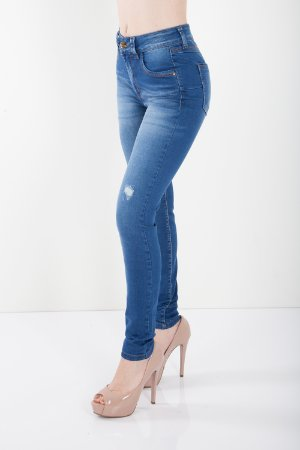 Calça Jeans Bana Bana High Skinny com Pence Azul