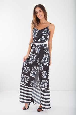 VESTIDO HAPPY HOUR ESTAMPADO - DARK SKY