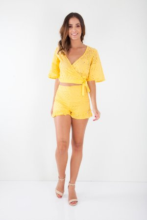 SHORTS HAPPY HOUR LAISE - AMARELO