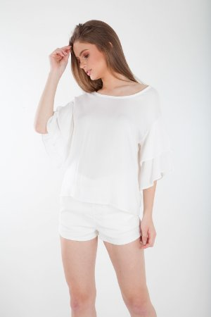 BLUSA LISA HAPPY HOUR - OFF-WHITE