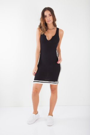 VESTIDO HAPPY HOUR RIBANA - PRETO