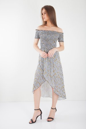 VESTIDO LONGO HAPPY HOUR - SUNNY ABSTRACT