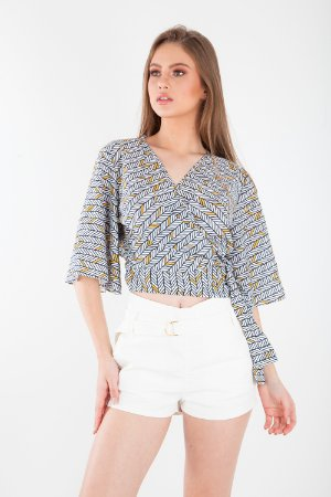 BLUSA HAPPY HOUR - SUNNY ABSTRACT