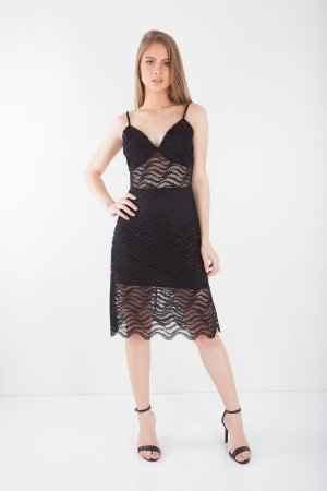 VESTIDO HAPPY HOUR DE RENDA - PRETO