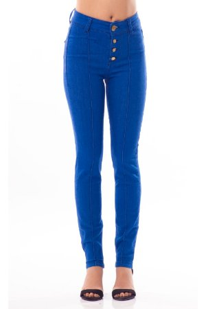 Calça Jeans Bana Bana High Skinny com Nervura