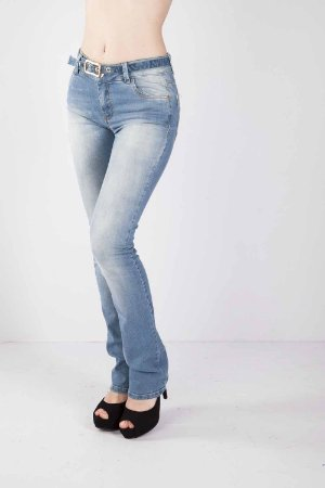 Calça Jeans Bana Bana Midi Boot Cut Azul