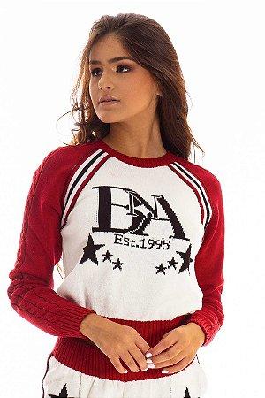 Blusa Tricot Bana Bana com Estrelas