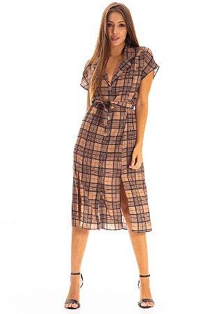 Vestido Midi Bana Bana Xadrez