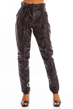 Calça Bana Bana Clochard Leather Preto