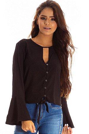 Camisa Bana Bana com Decote Gota e Amarração