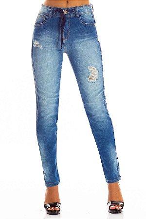 Calça Jeans Bana Bana Midi Skinny com Cadarço
