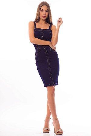 Vestido Jeans Bana Bana com Botões