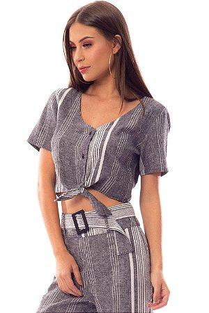 Camisa Bana Bana em Linho com Amarração