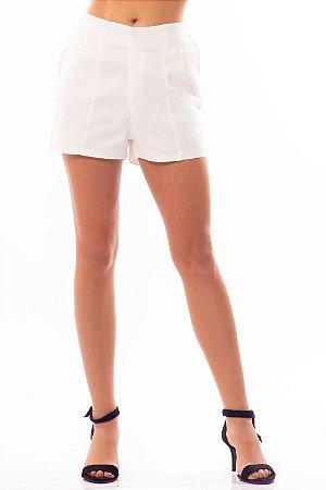 Shorts Bana Bana Alfaiataria Branco
