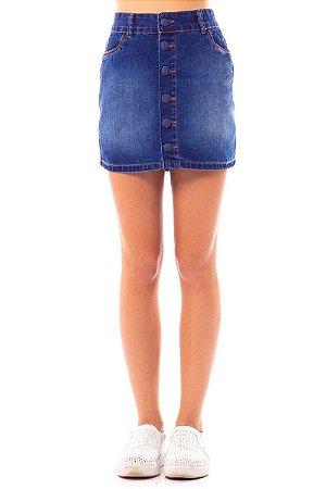 Saia Jeans Bana Bana Skirt com Botões
