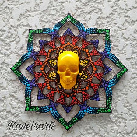 Mandala com Caveira