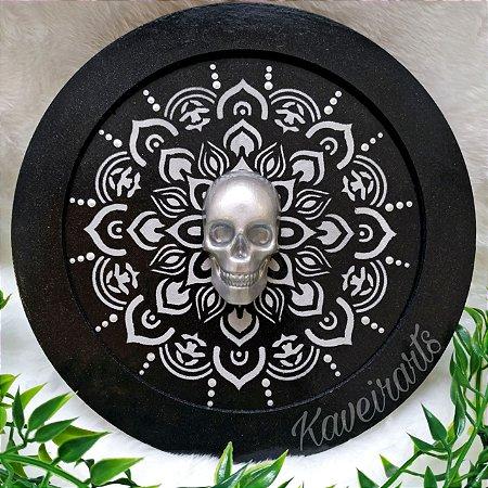 Quadro Mandala com Caveira