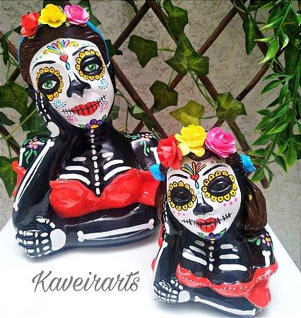 Namoradeira Catrina Mexicana (Grande e Pequena)