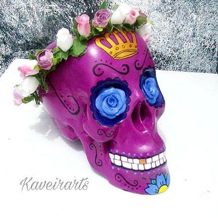 Caveira Mexicana com Coroa (Grande)