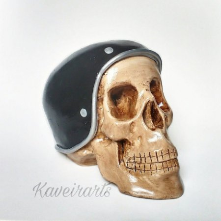 Caveira capacete Motociclista Grande