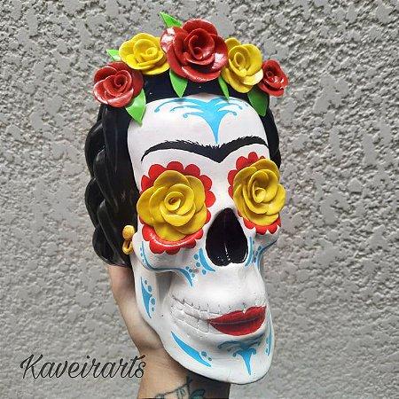 Caveira Frida Kahlo (Grande)