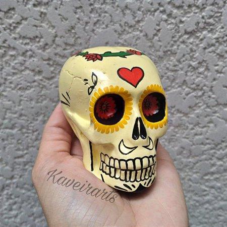 Caveira Mexicana Amarelo Claro (Pequena)