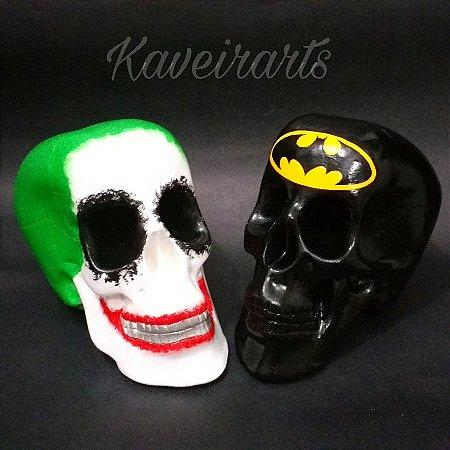 Caveira Coringa E Batman Grande