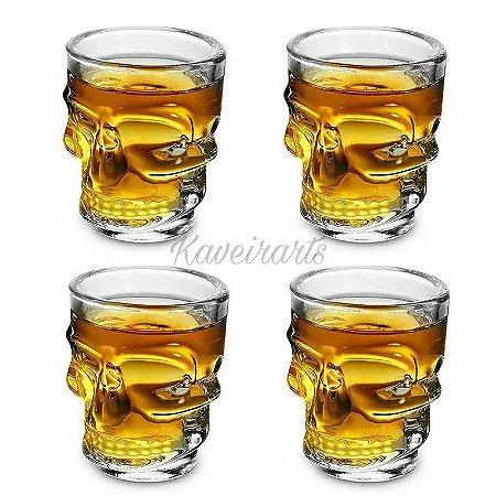 Jogo de copos shot caveira 50ml