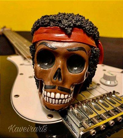 Caveira Jimi Hendrix Pequena