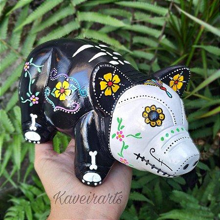 Porco Esqueleto Mexicano Cofre
