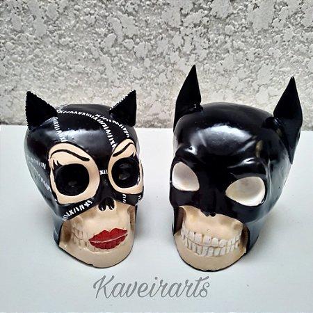 Caveira Batman e Mulher Gato (Pequena)