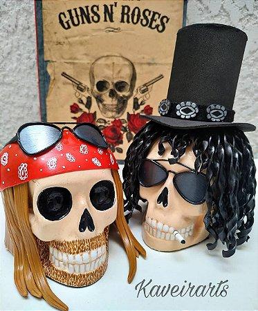 Caveiras Axl e Slash (Guns n' Roses) (Pequena)