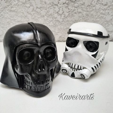 Caveira Darth Vader e Stormtrooper (Pequena)