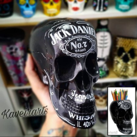 Caveira Jack Daniel's (Grande) (Fechada ou Porta Treco)