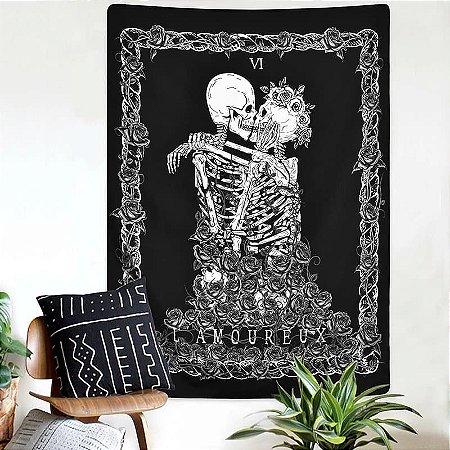Bandeira de parede Casal Esqueleto