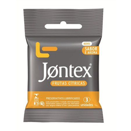 Preservativo Jontex com 3 Unidades Frutas Citricas