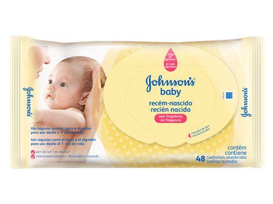 Lencos Umedecidos Johnsons Baby Recem-Nascido com 48