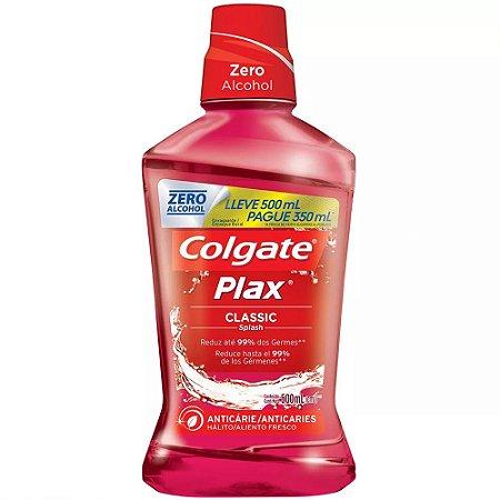 ANTI-SEPTICO BUCAL COLGATE PLAX 500ML CLASSIC ZERO ALCOOL