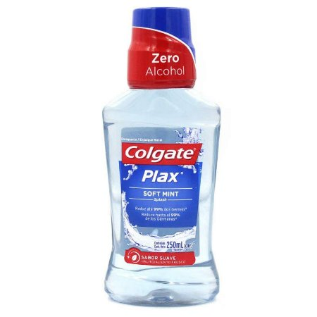 ANTISSEPTICO BUCAL COLGATE PLAX 250ML SOFT MINT ZERO ALCOOL