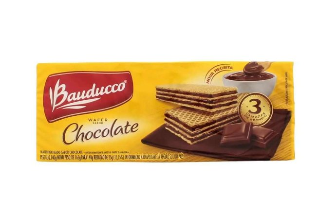 BISCOITO BAUDUCCO 78G WAFER CHOCOLATE