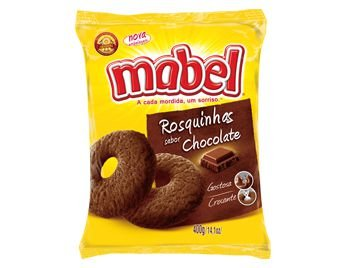 BISCOITO MABEL 400G ROSQUINHA CHOCOLATE