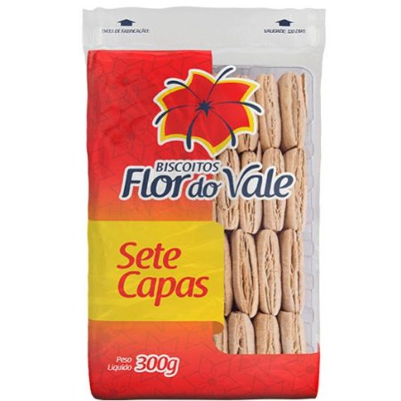 BISCOITO FLOR DO VALE 300G SETE CAPAS