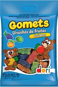 Jujubas Gomets 100G Ursinhos De Frutas