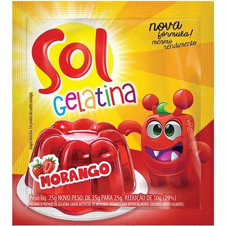 GELATINA SOL 25G MORANGO