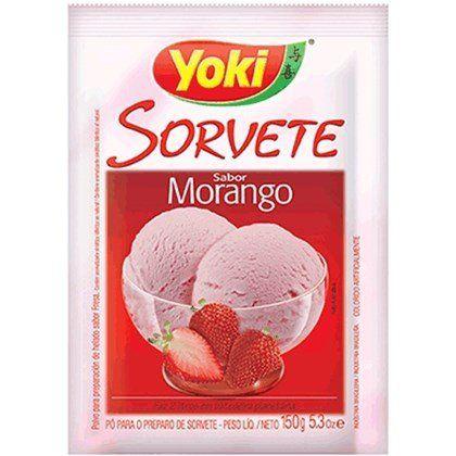PO P/SORVETE YOKI 150G MORANGO
