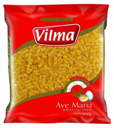 MASSA VILMA 500G AVE MARIA COM OVOS
